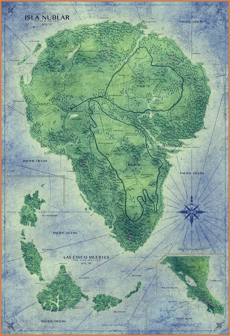 Jurassic World Map Of Isla Nublar