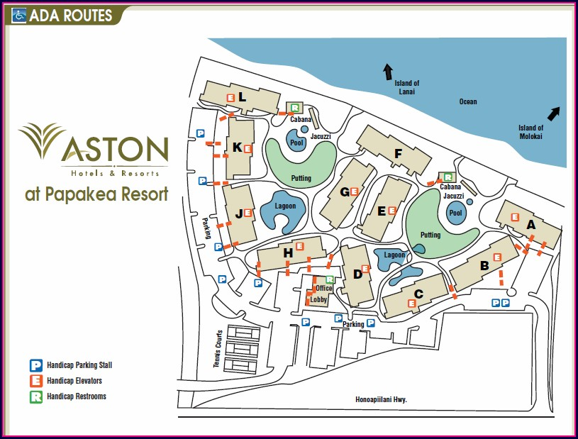 Kaanapali Shores Resort Map