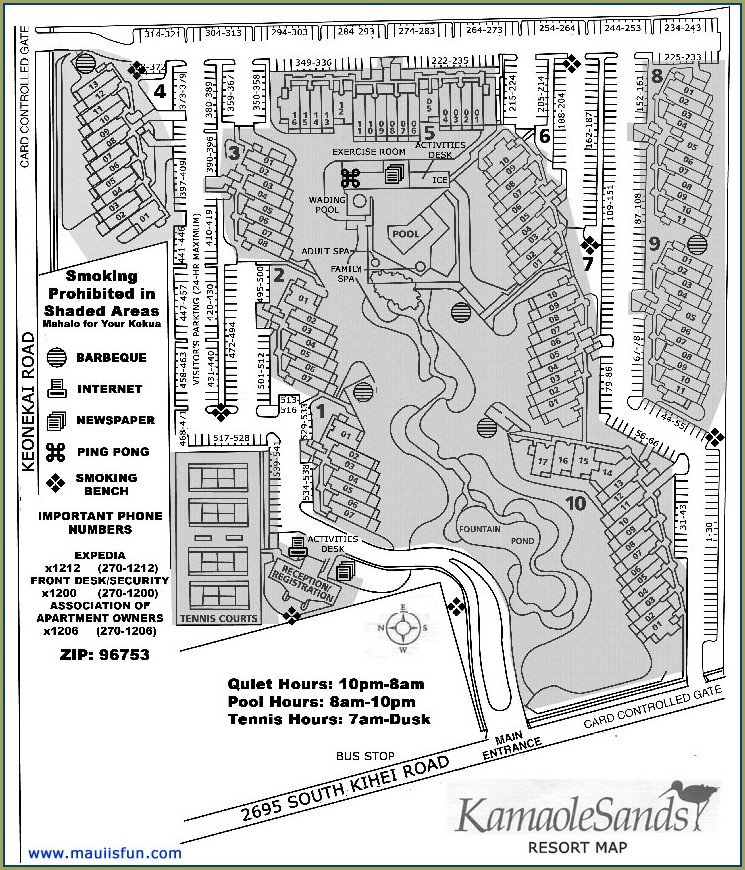 Kamaole Sands Maui Property Map