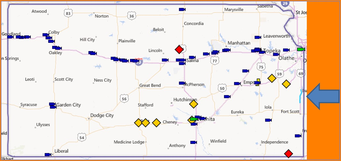 Kansas 511 Road Conditions Map