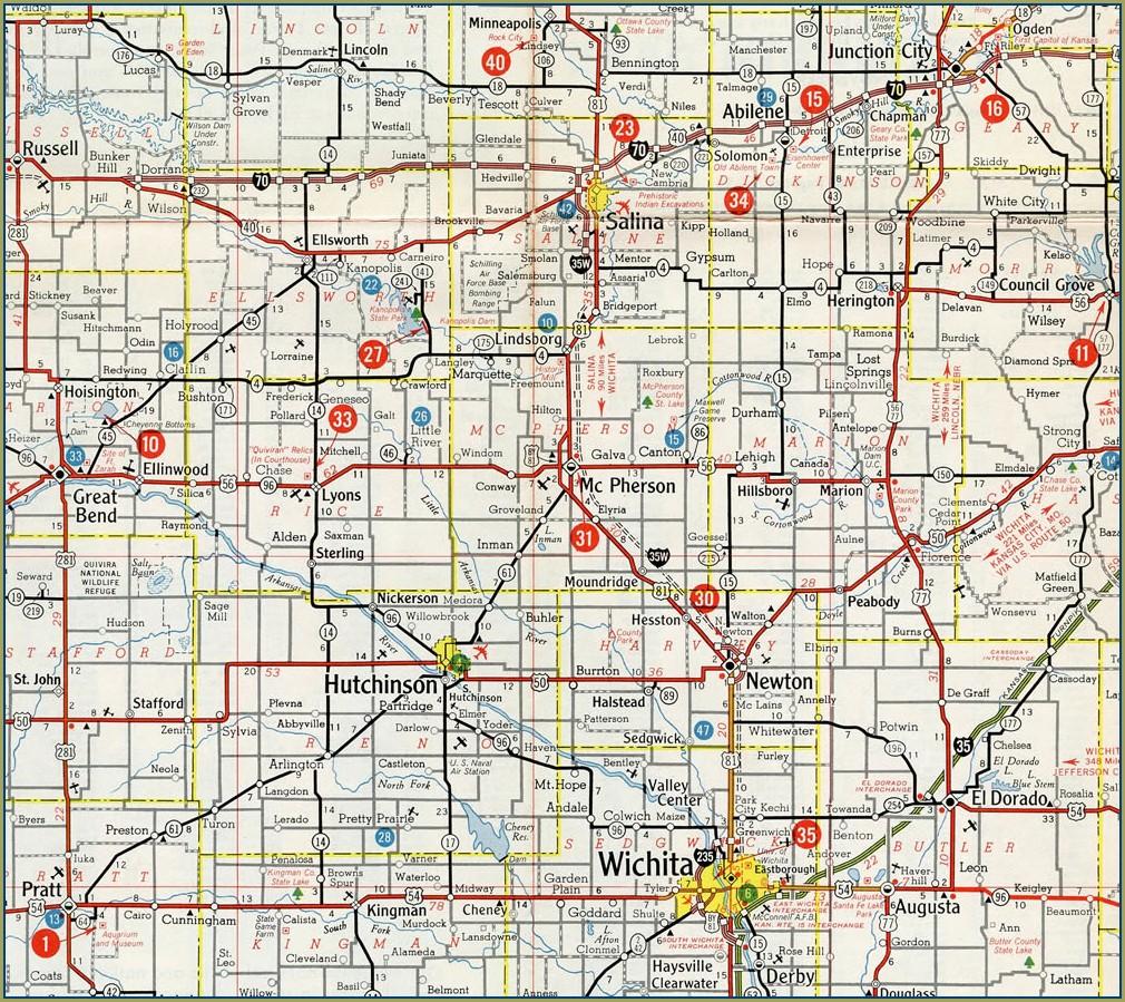 Kansas Mile Marker Map
