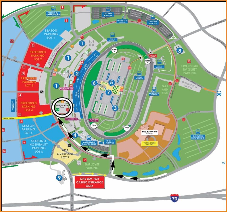 Kansas Speedway Camping Map