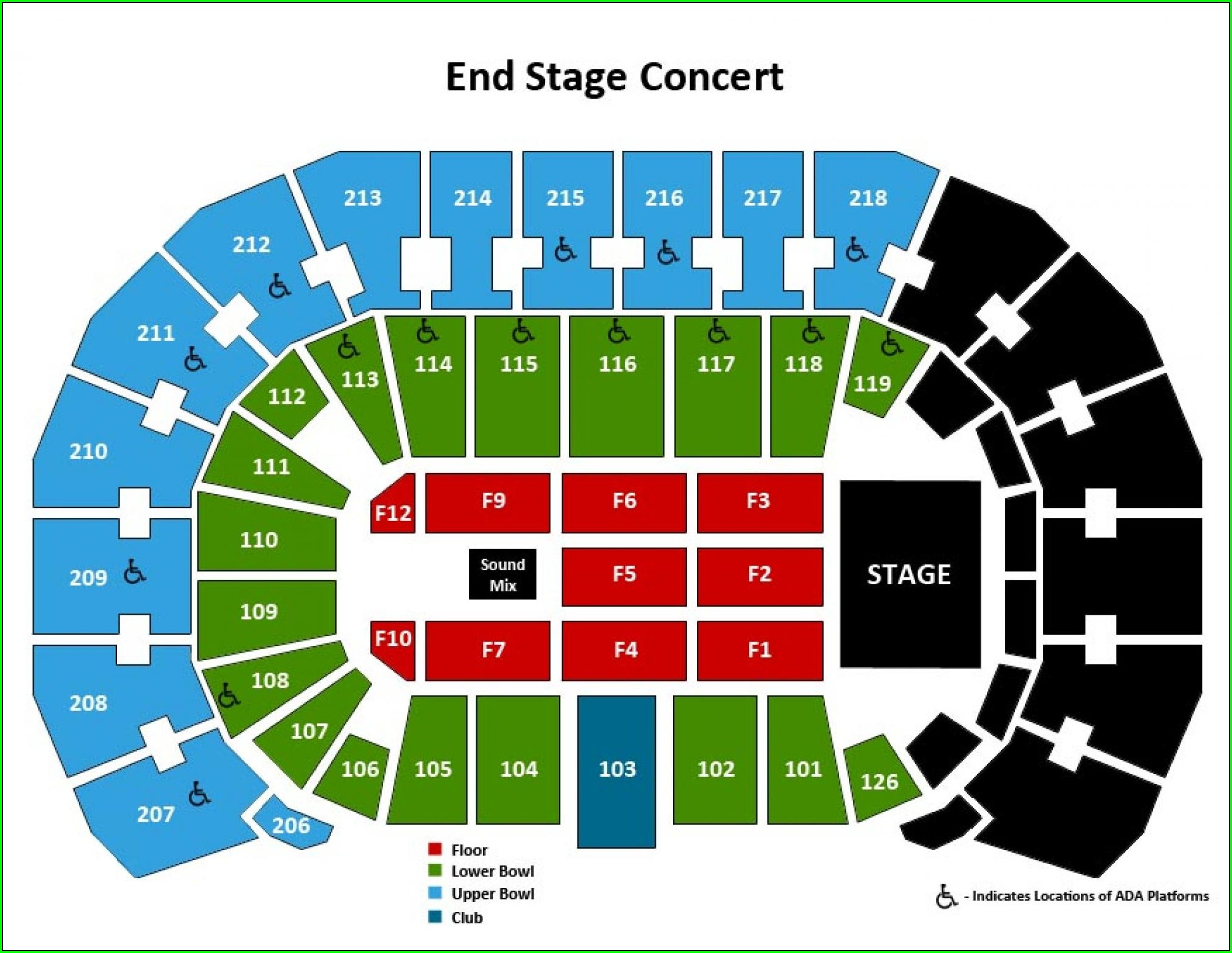 Kansas Star Arena Seating Map