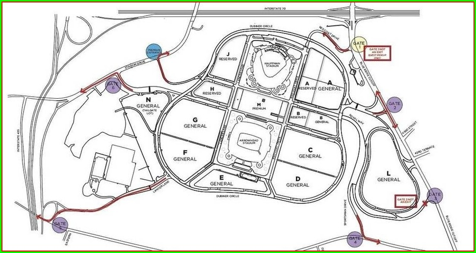 Kauffman Stadium Parking Map