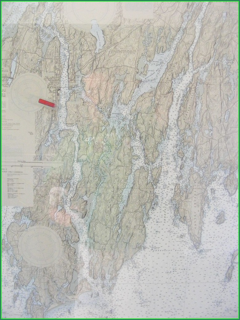 Kennebec River Maine Map