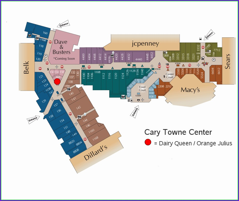 Kenwood Towne Center Map Of Stores (2)