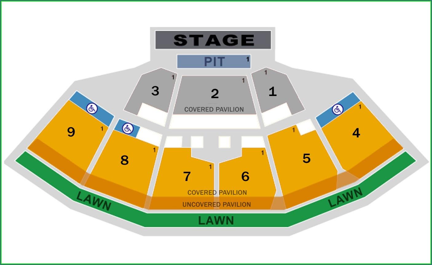 Keybank Pavilion Seat Map