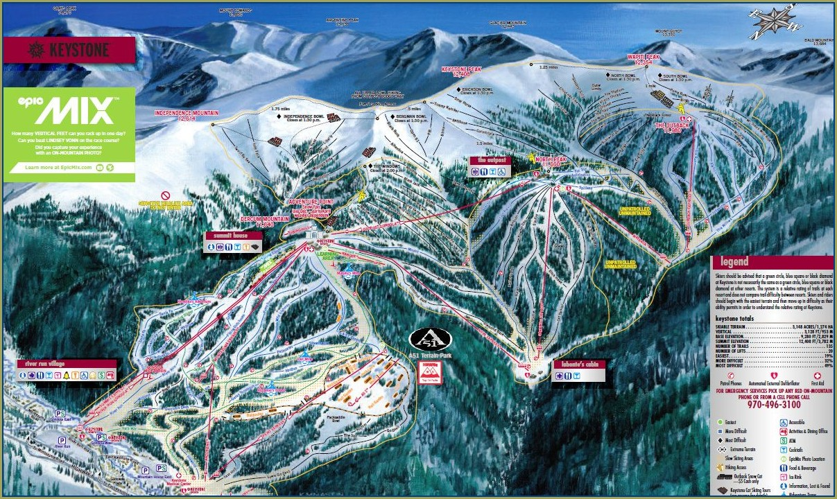 Keystone Ski Resort Map