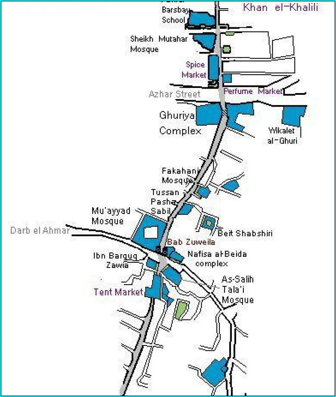 Khan El Khalili Bazaar Map