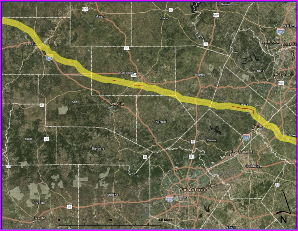 Kinder Morgan Pipeline Map Blanco County
