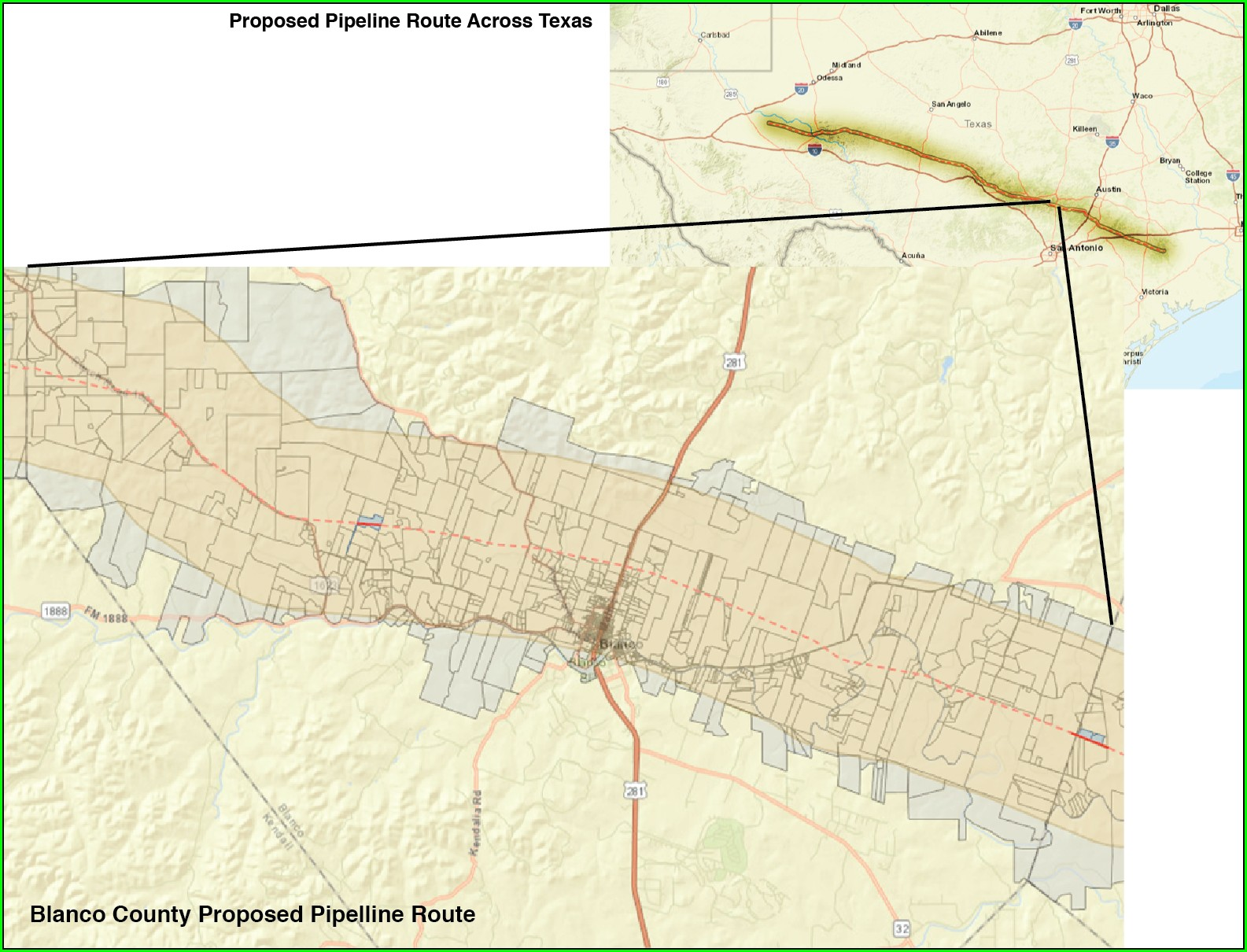 Kinder Morgan Texas Pipeline Map