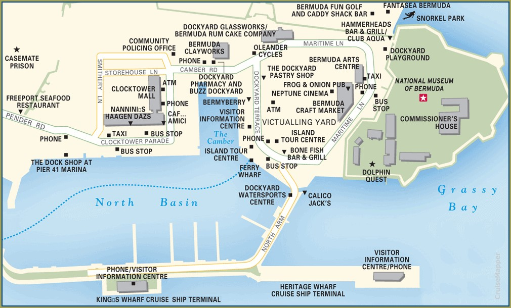 Kings Wharf Bermuda Map