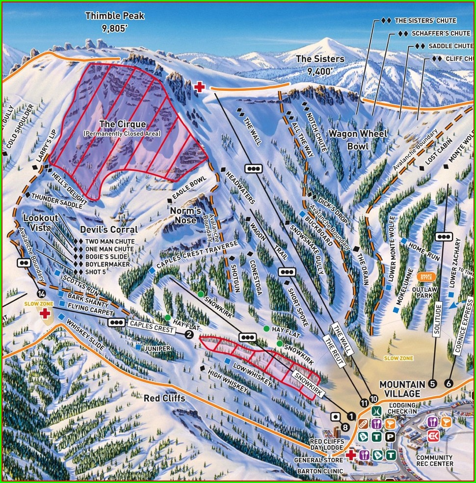 Kirkwood Ski Resort Map