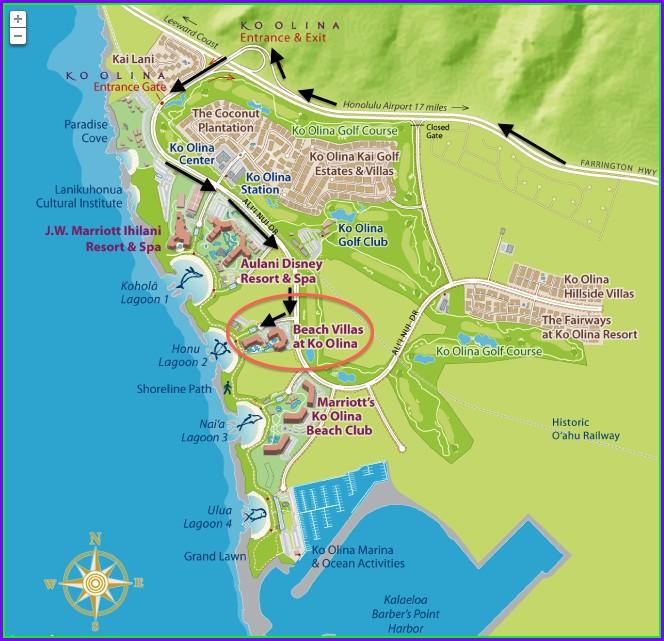 Ko Olina Beach Villas Map