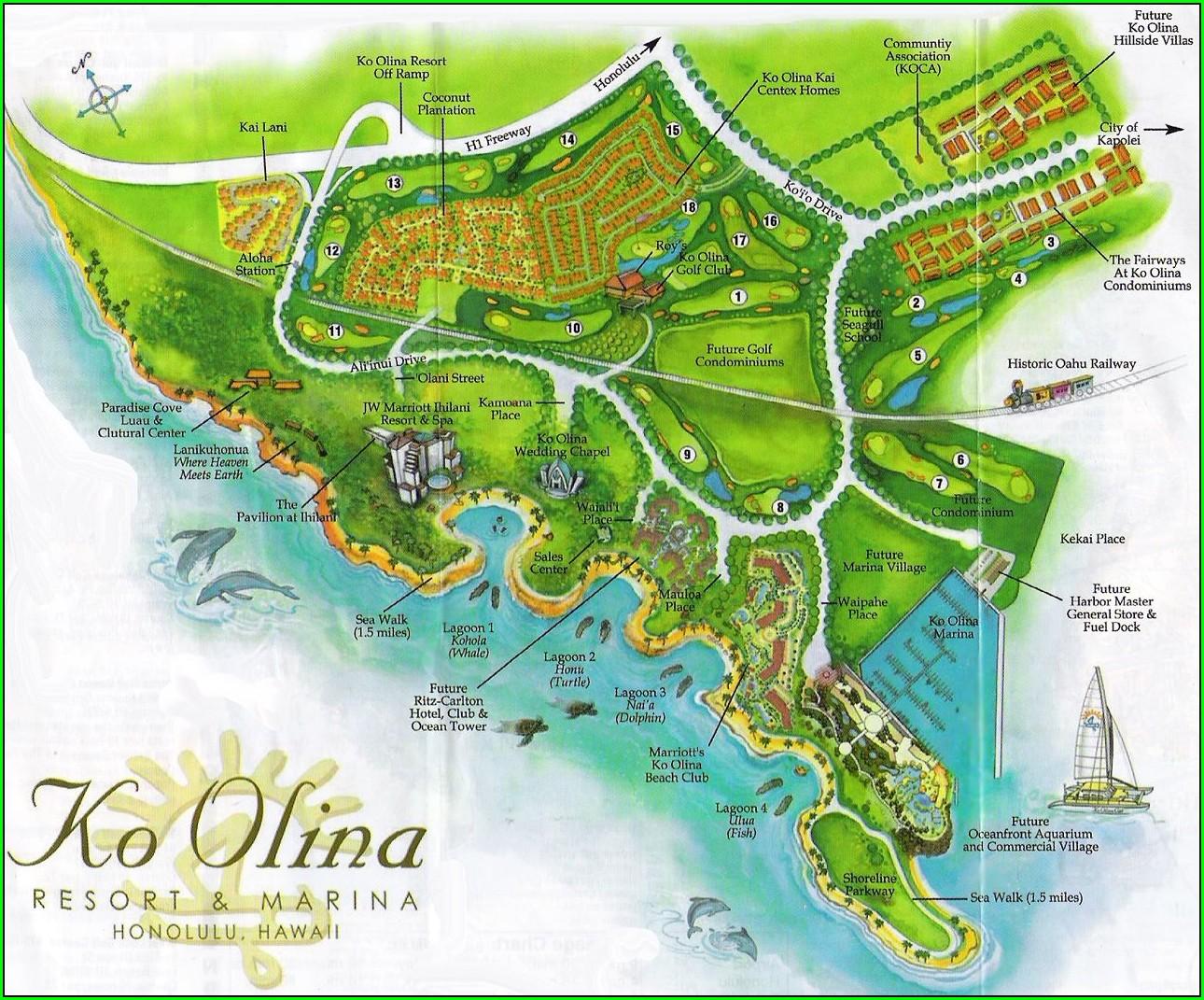 Ko Olina Hotels Map