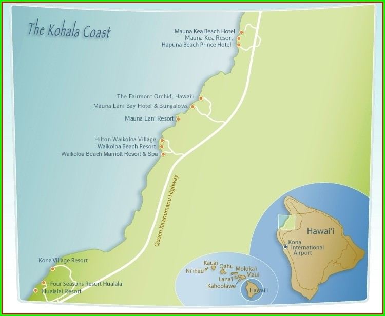 Kohala Coast Hawaii Map