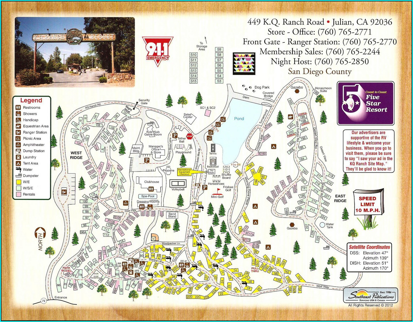 Kq Ranch Resort Map
