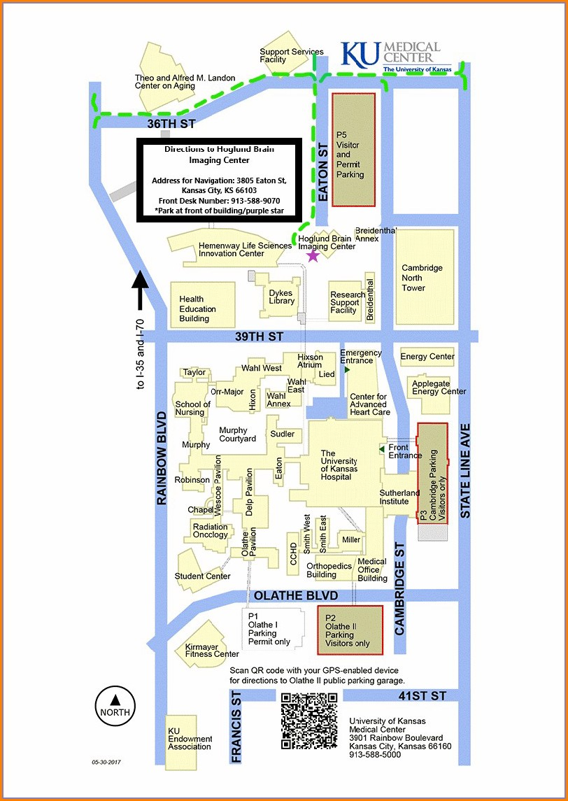 Ku Medical Center Parking Map