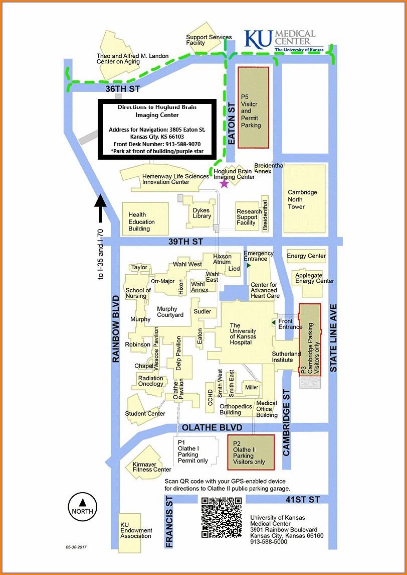 Ku Medical Center Parking Map