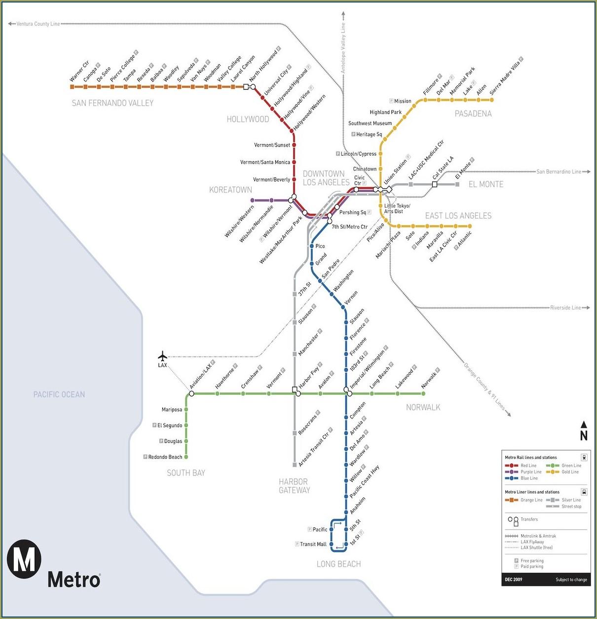 La Metro Bus Map 2019
