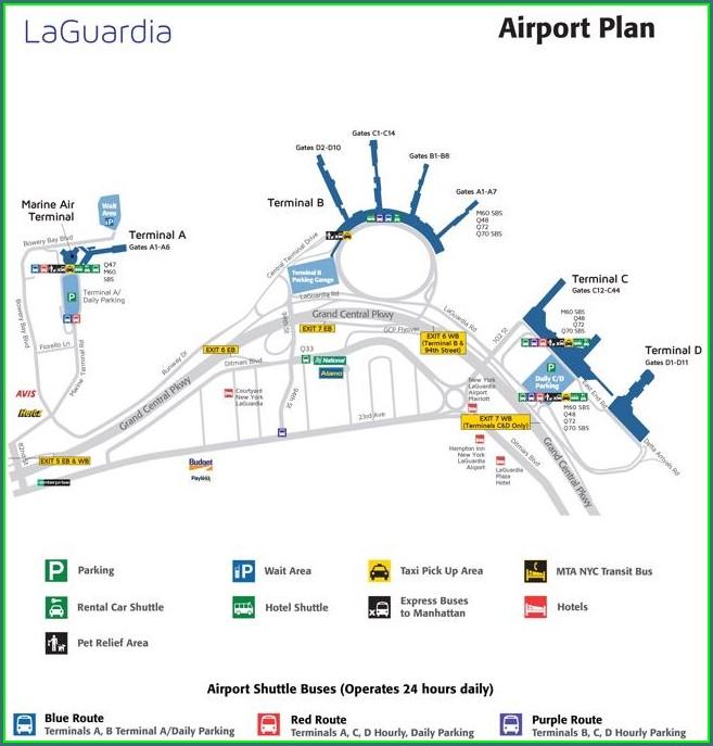 Laguardia Airport Map Food