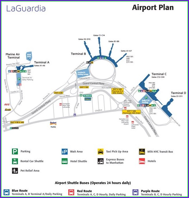 Laguardia Terminal C Map Food