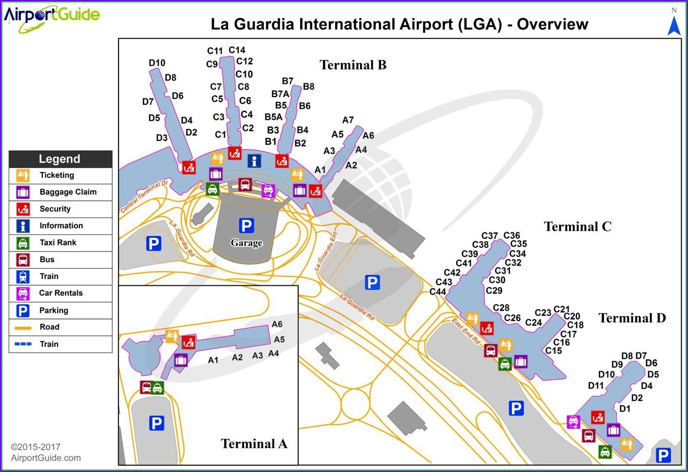 Laguardia Terminal C Map
