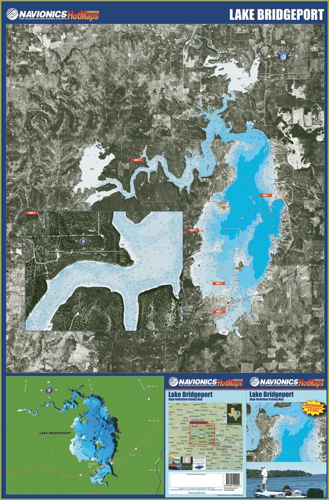 Lake Bob Sandlin Depth Map