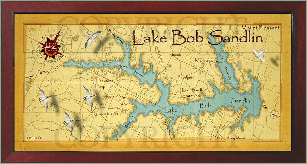 Lake Bob Sandlin Stump Map