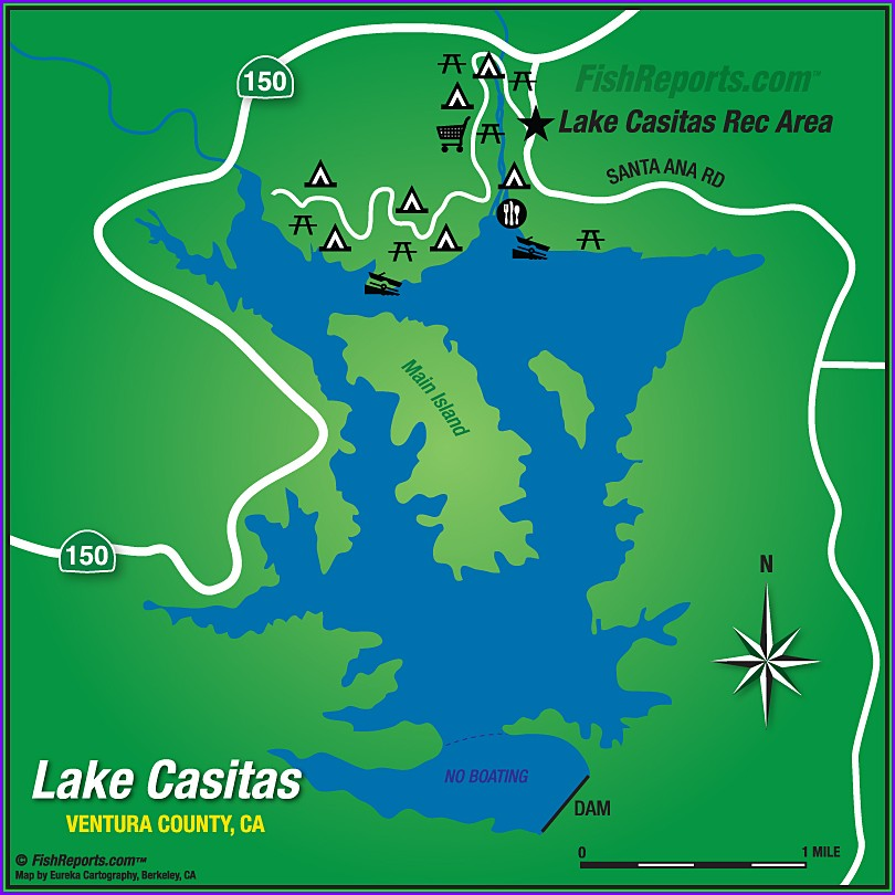 Lake Casitas Camping Map Angler