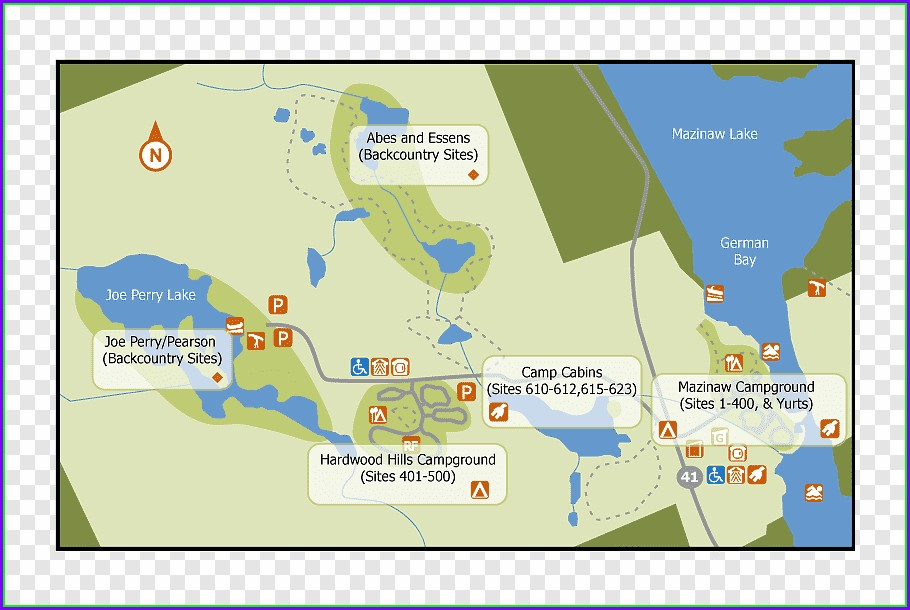 Lake Casitas Camping Map Creekside