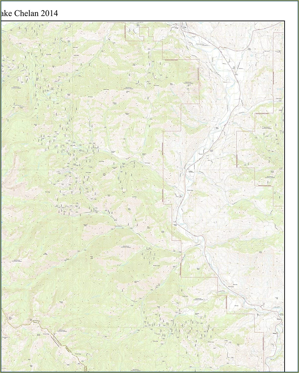 Lake Chelan Washington Map