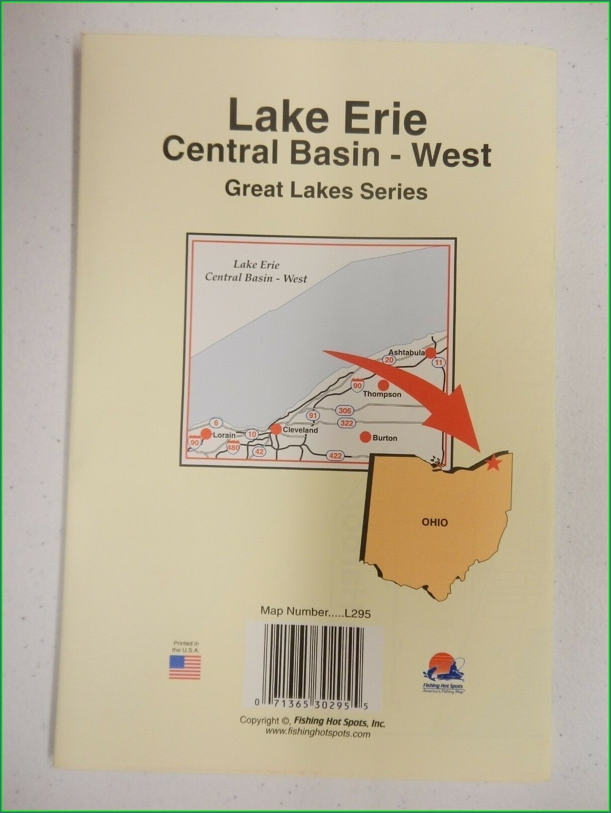 Lake Erie Fishing Hot Spots Map