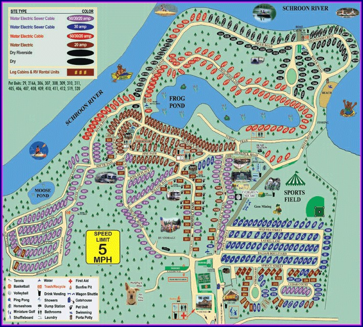 Lake George Escape Campground Map