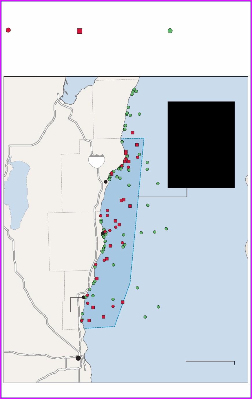 Lake Michigan Shipwrecks Map