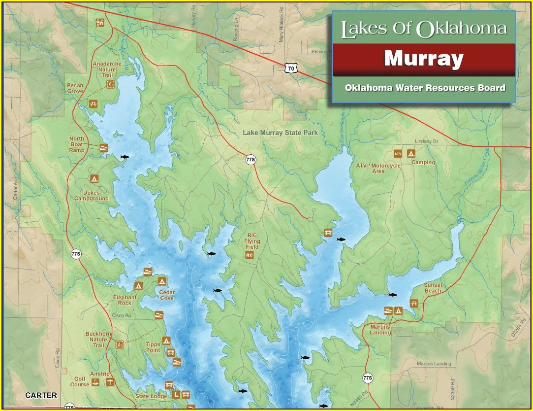 Lake Murray State Park Camping Map