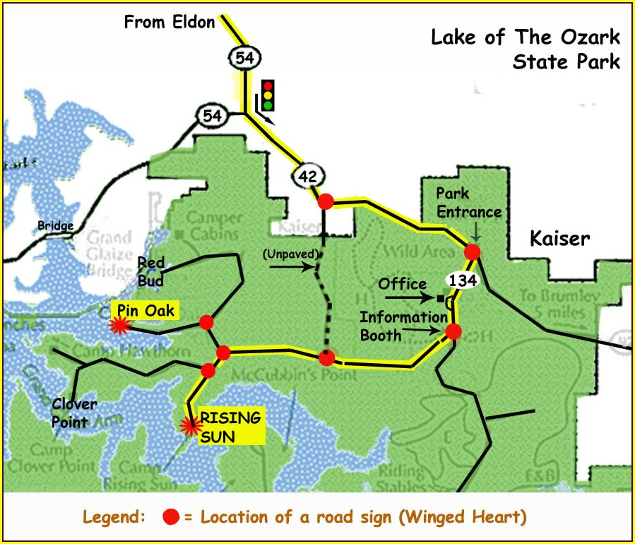 Lake Of The Ozarks Campground Map