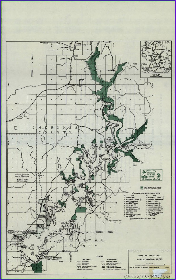 Lake Tenkiller Map Oklahoma