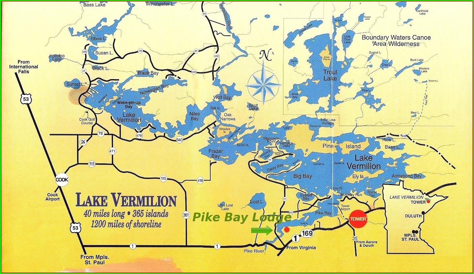 Lake Vermilion Mn Depth Map