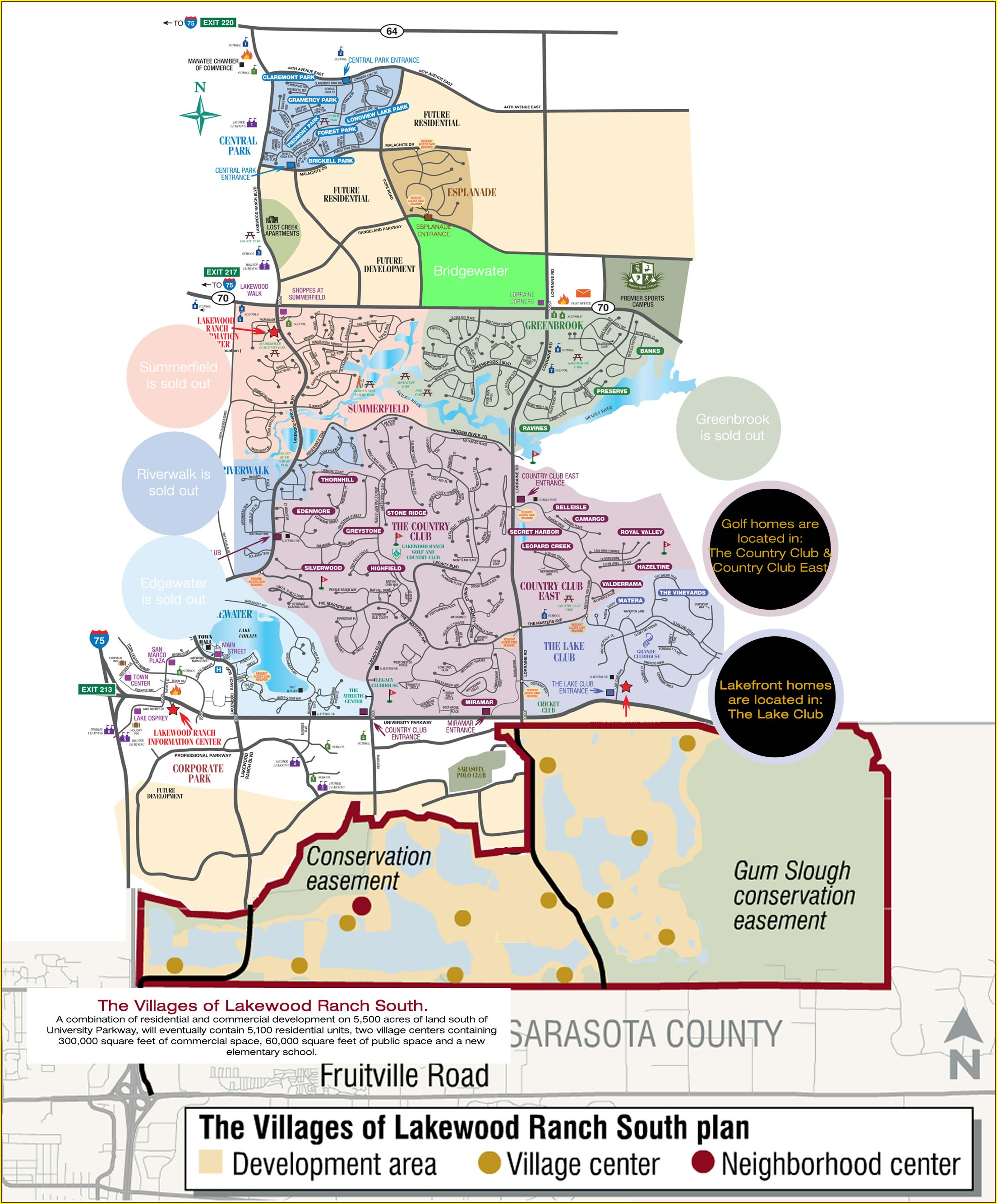 Lakewood Ranch Neighborhood Map
