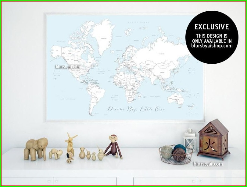 Large Printable World Map With Countries