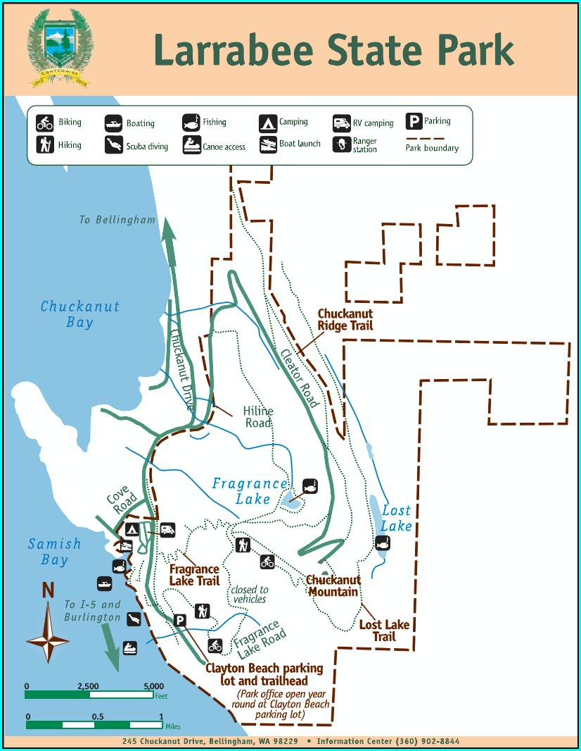 Larrabee State Park Campground Map