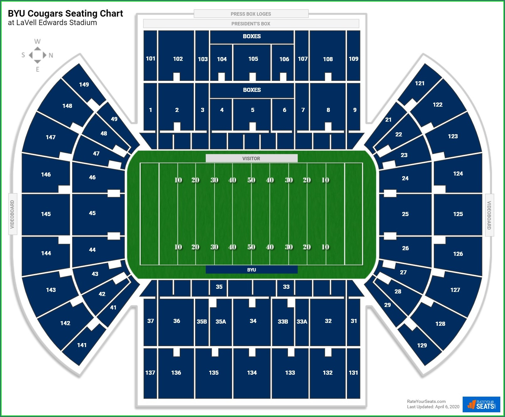 Lavell Edwards Stadium Parking Map