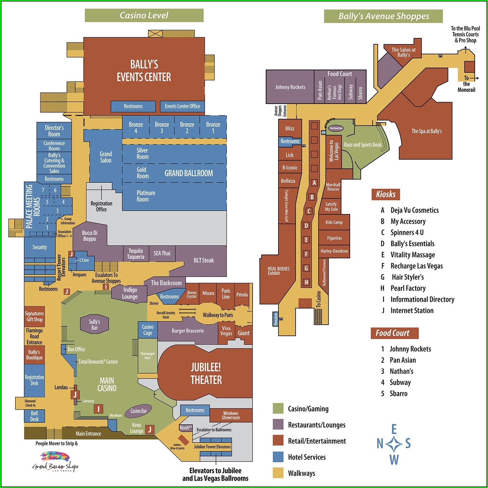 Layout Caesars Palace Hotel Map