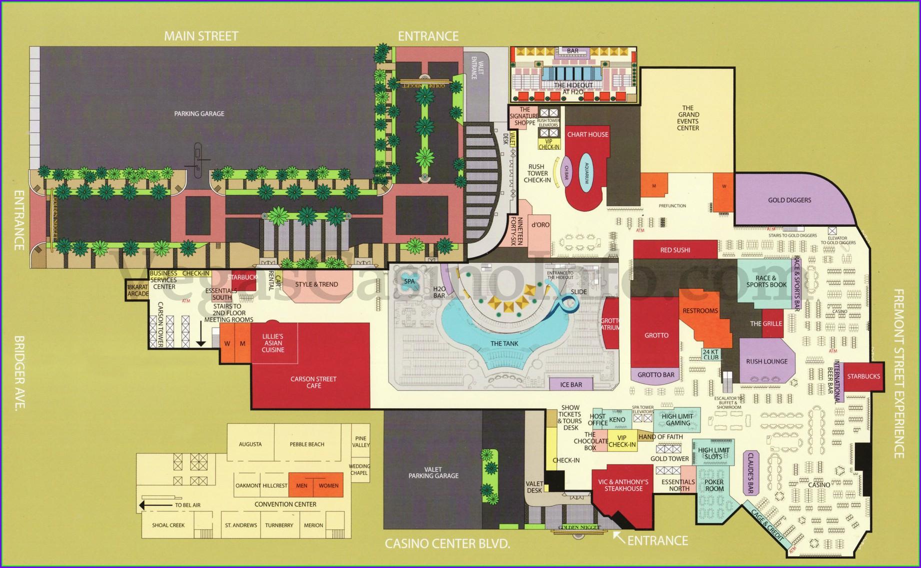 Layout Caesars Palace Towers Map