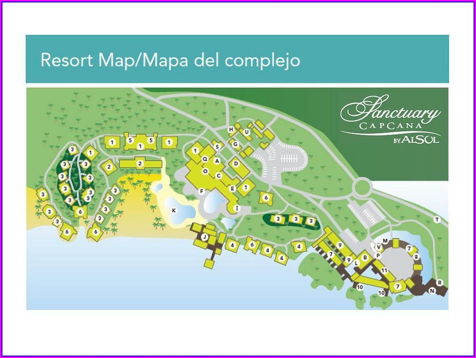 Layout Sanctuary Cap Cana Resort Map