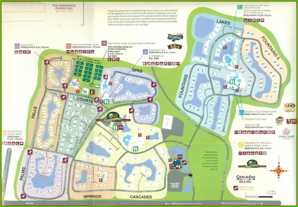 Layout Westgate Vacation Villas Map