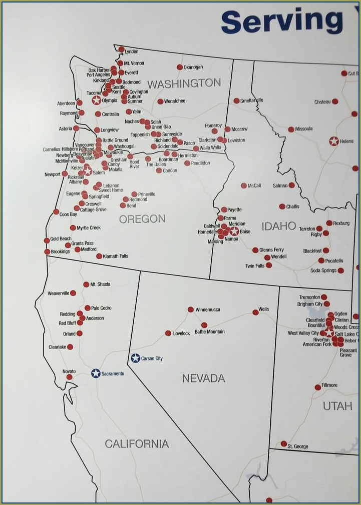 Les Schwab Locations Map
