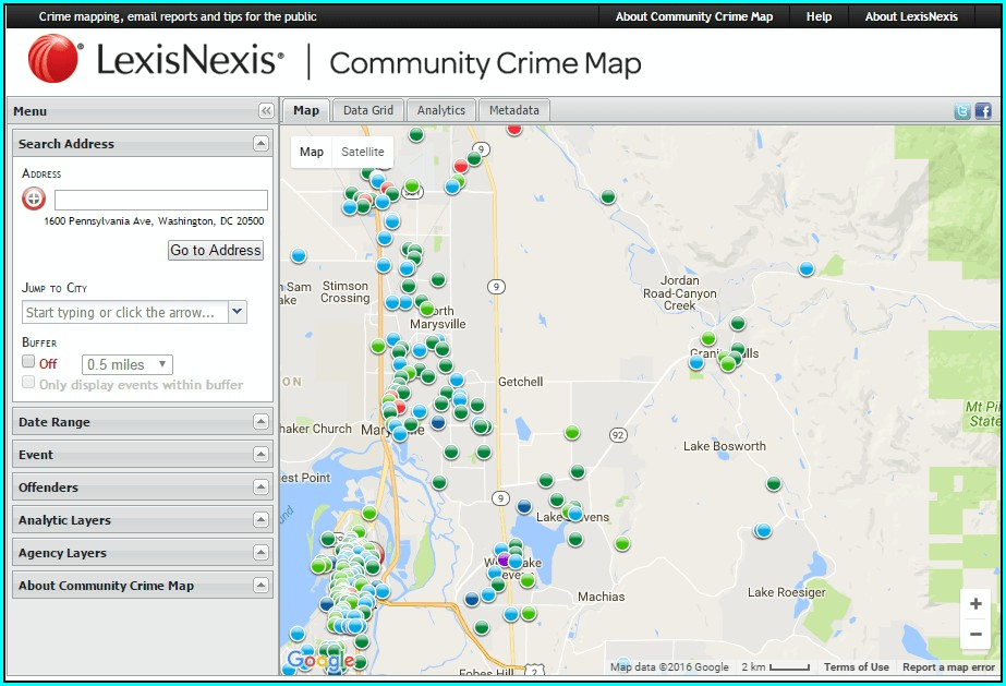 Lexisnexis Community Crime Map App
