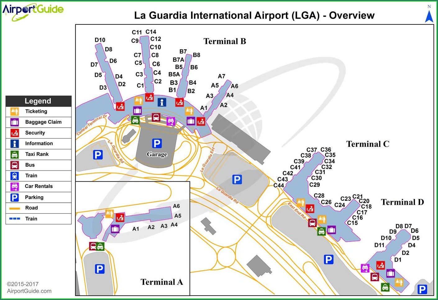 Lga Terminal C Gate Map